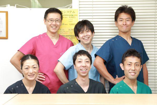 整体の施術担当は全員日本カイロプラクティック医学協会認定です