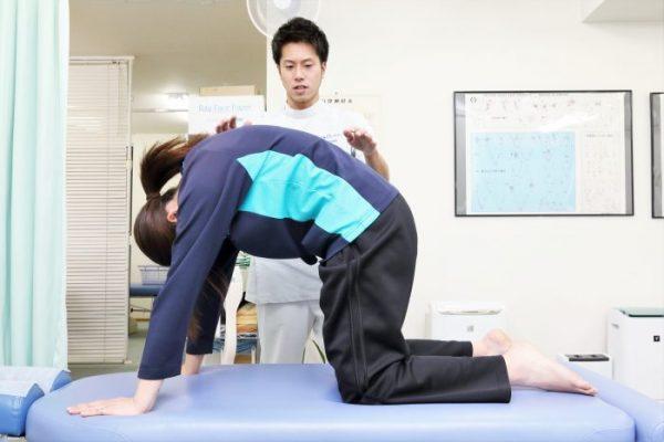 アフターケアの紹介。腰の体操