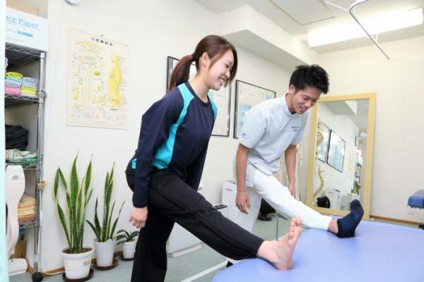 アフターケアの紹介・脚のストレッチ